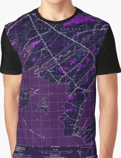 New York NY Cape Vincent South 122802 1942 31680 Inverted Graphic T-Shirt
