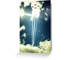 Formation in the Sky Greeting Card