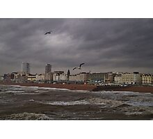 Seafront Storm Photographic Print
