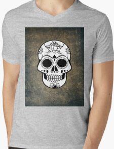 Skull Mens V-Neck T-Shirt