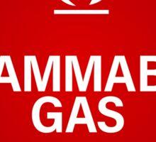 FLAMMABLE GAS! Sticker