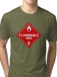 FLAMMABLE GAS! Tri-blend T-Shirt
