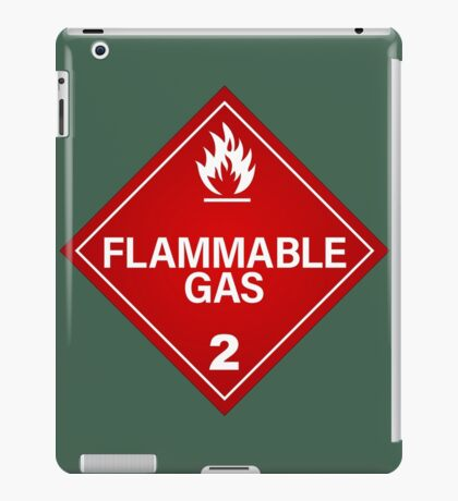 FLAMMABLE GAS! iPad Case/Skin