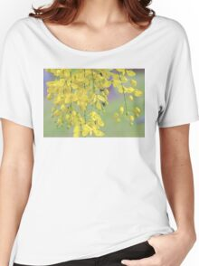 Golden Yellow Blossoms (Cassia Fistula Tree) Women's Relaxed Fit T-Shirt