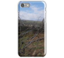 Surveying Ilkley from the moor iPhone Case/Skin