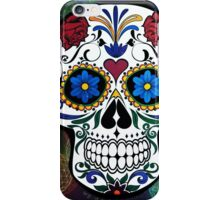 Skull with Bokeh Background iPhone Case/Skin