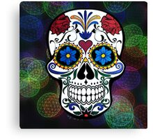 Skull with Bokeh Background Canvas Print
