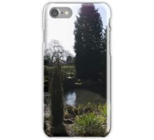 Winter Sun over the Pond at Rowntree Park iPhone Case/Skin