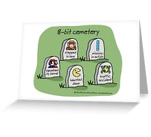 8-bit cemetery Greeting Card