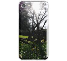 Flowers and Sun over Rowntree Park iPhone Case/Skin