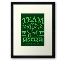 Team Smash Framed Print