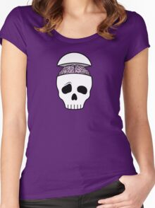 Brainy Skull Women's Fitted Scoop T-Shirt