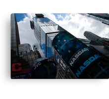 Neon Lights and Ads - Times Square, Manhattan, New York City, USA Canvas Print