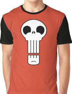 Long Skull Graphic T-Shirt