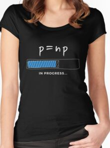 P versus NP problem in progress Graphic T-shirt  Women's Fitted Scoop T-Shirt