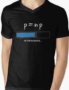P versus NP problem in progress Graphic T-shirt  Mens V-Neck T-Shirt