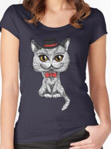British cat hipster Women's Fitted Scoop T-Shirt