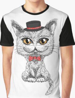 British cat hipster Graphic T-Shirt