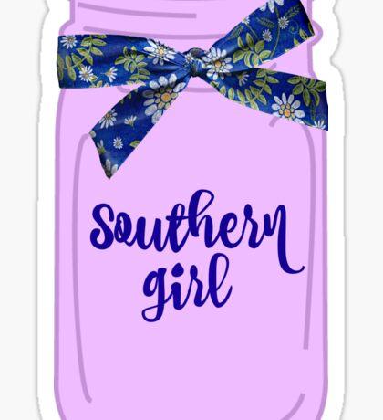Southern Girl Mason Jar  Sticker