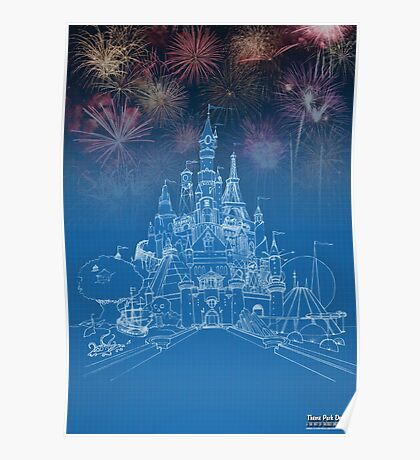 Theme Park Castle Poster