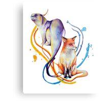 Duality - Otter/Fox Mash Up Metal Print