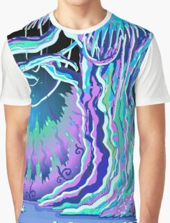 Magic Tale Blacklight Forest Background Graphic T-Shirt