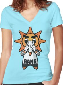 Chief Keef|Glo Gang Women's Fitted V-Neck T-Shirt