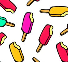 Multi Color Summer Popsicle Pattern Sticker
