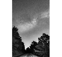 Dark Forest Night Light Photographic Print