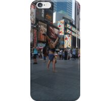 Street Yoga in Times Square iPhone Case/Skin