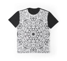 Filigree Mandala *white & grey* Graphic T-Shirt