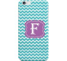 F Turquoise iPhone Case/Skin