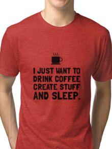 Coffee Create Sleep Tri-blend T-Shirt