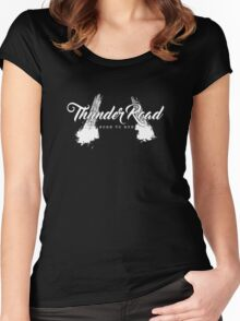 Thunder Road Tires - Dark Women's Fitted Scoop T-Shirt