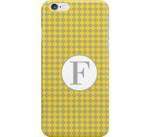 F Checkard iPhone Case/Skin