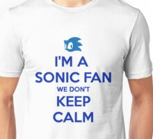 Sonic Fans Don't keep Calm T-shirt Unisex T-Shirt