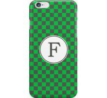F Checkard II iPhone Case/Skin
