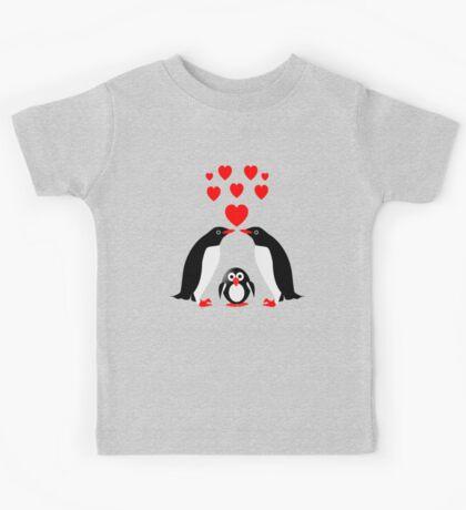 Penguins family Kids Tee