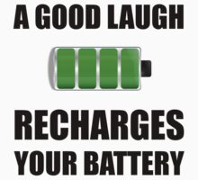 Laugh Recharges Battery One Piece - Short Sleeve