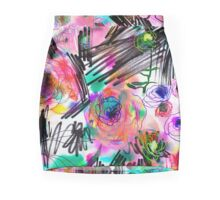 Graffiti flowers Mini Skirt