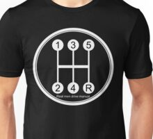 Real men drive manual! Unisex T-Shirt