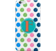 Polka Dot F iPhone Case/Skin