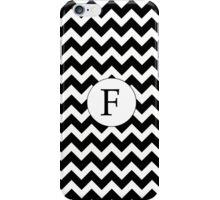 F Black Chevron iPhone Case/Skin