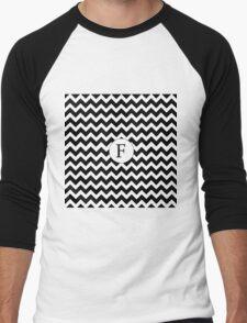 F Black Chevron Men's Baseball ¾ T-Shirt