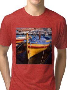 Traditional Catalan fishing boat Tri-blend T-Shirt