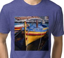 Traditional Catalan fishing boat Tri-blend T-Shirt