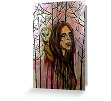 Whispers of the Owl Greeting Card