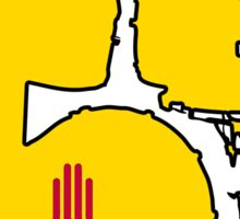New Mexico flag drums Sticker