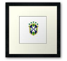 brazil logo football Framed Print
