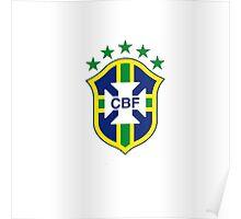 brazil logo football Poster